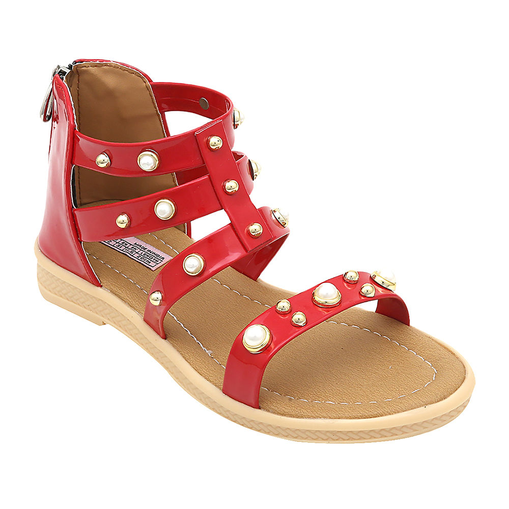 1319e08e1692 Hopscotch - Dchica - Red Ankle Gladiator Sandals For Girls