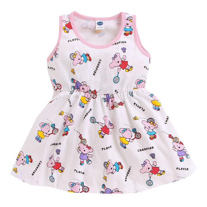 8bec8c3f03 Hopscotch - Teddy - White Bunny Print Sleeveless Dress