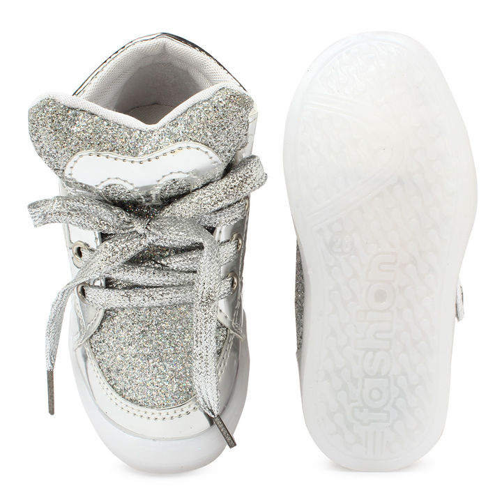 sports shoes a2f43 d897d Silver LED Sneaker Lace Up Sneaker