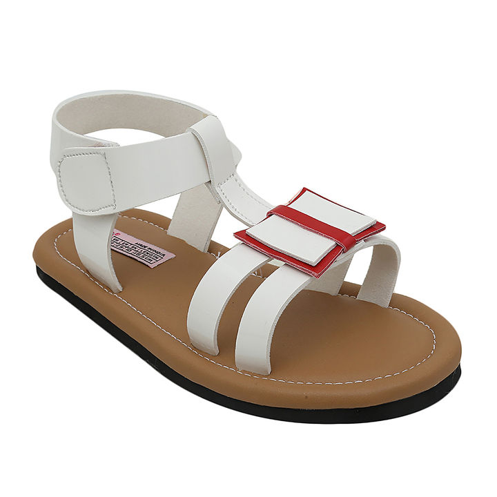 a7b5efcaa3f3 Hopscotch - Dchica - White Love Her Style Sandals For Girls