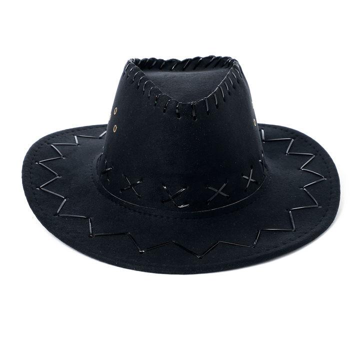 2076bb5eddea20 Buy Black Crossline Stylish Cowboy Hat online @ ₹399 | Hopscotch