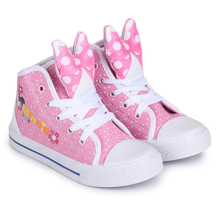 1232c994475e Pink Minnie Print Canvas Shoes