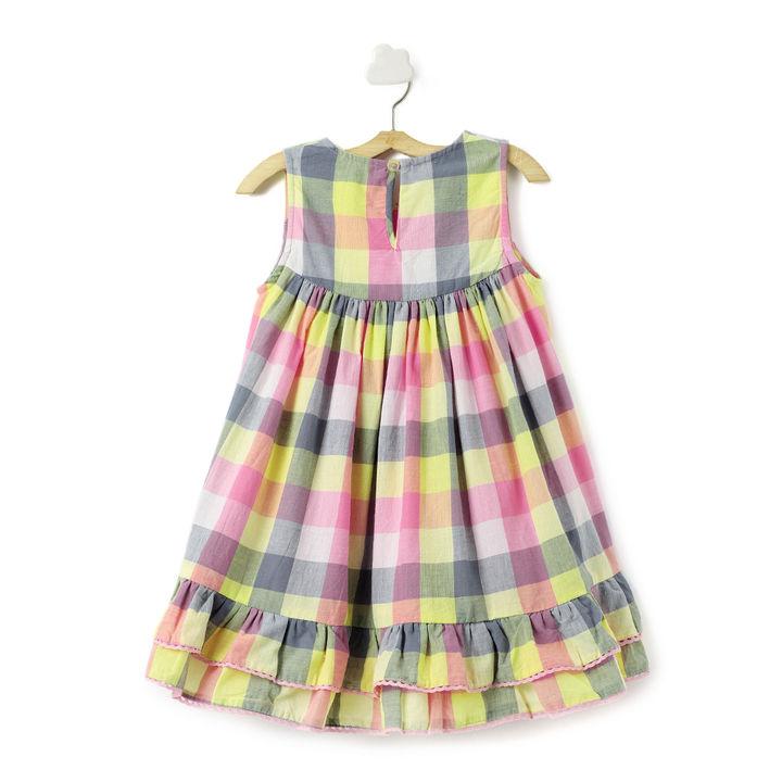 f8939d91cc0bd Hopscotch - Olele - Checks Yellow and Pink Sleeveless Dress
