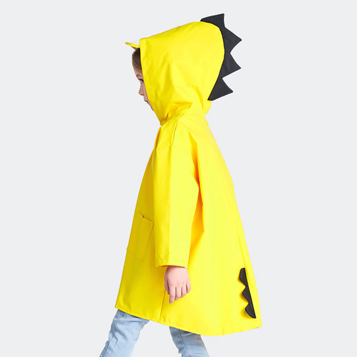 d80daf859d Dino Applique Solid Full Sleeves Raincoat - Yellow