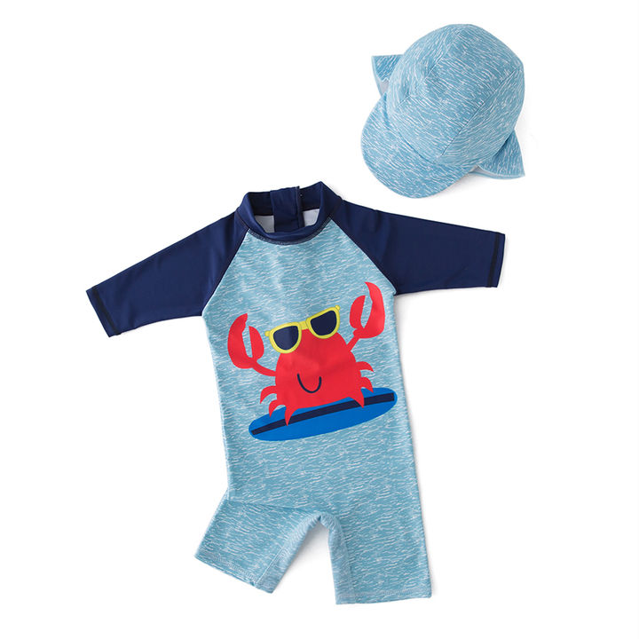 547017ed36 Hopscotch - NYAN CAT - Blue Grab Printed Half Sleeves One Piece Swimsuit  With Cap