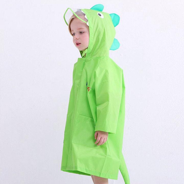 9ac322bc24 Dino Applique Full Sleeves Raincoat - Green