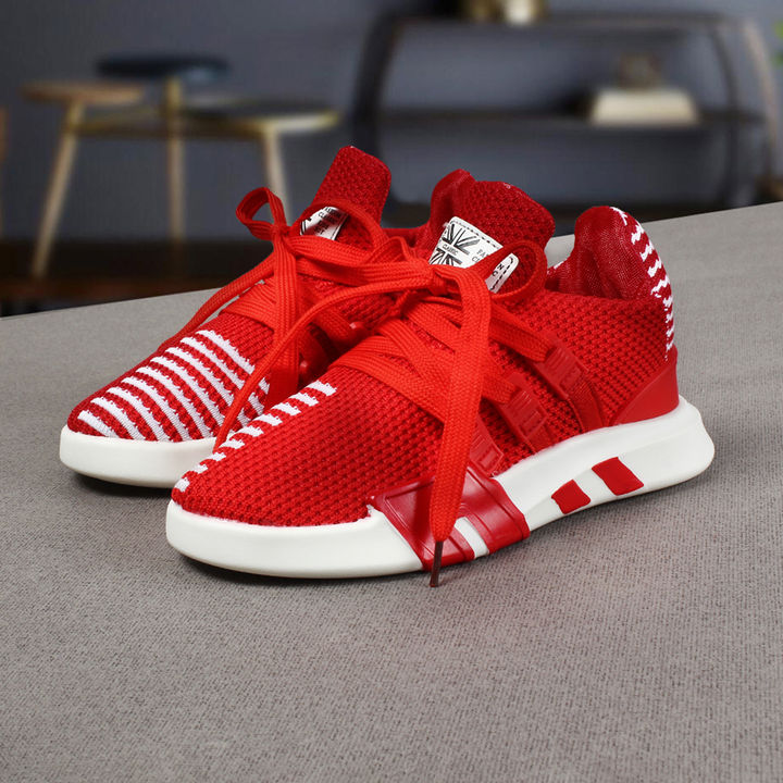 on sale 1ff23 fb284 Red Lace up Sneakers Shoes