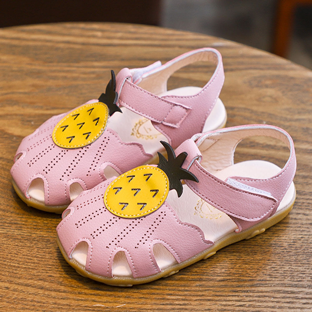 Purple Pineapple Applique Sandals Velcro nwOk0P