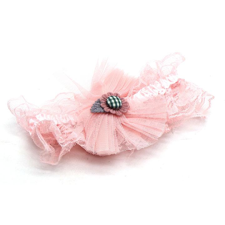 Flower Applique Head Band - Pink