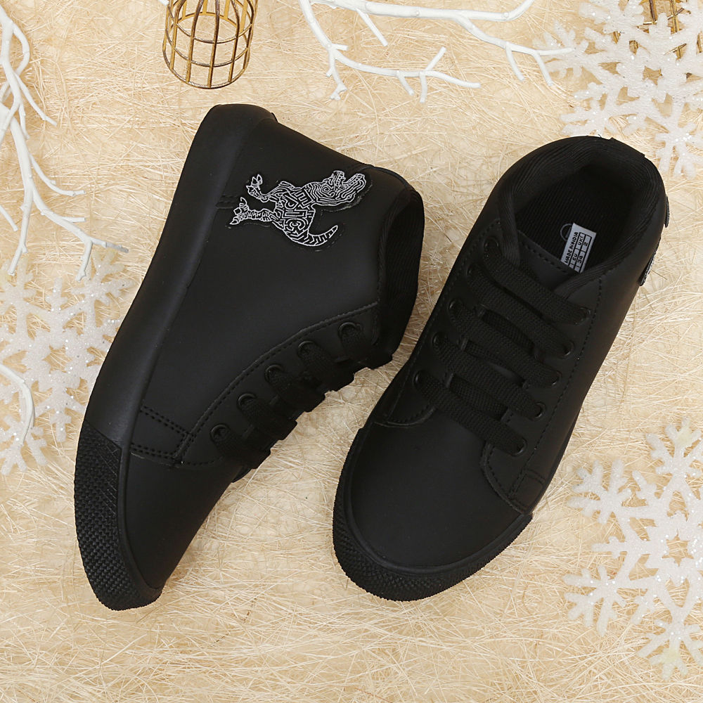 Buy Black High Ankle Shoes online