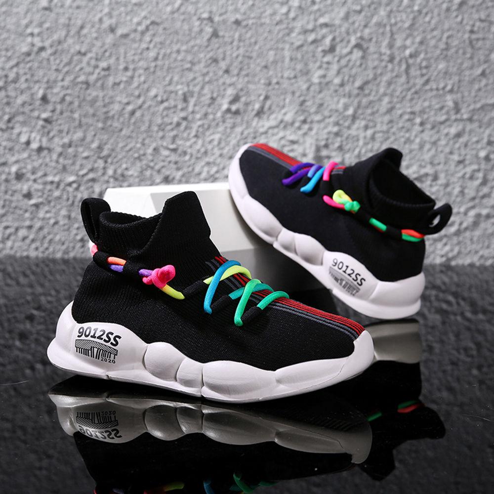 Buy Black Rainbow Lace Athletic Shoes